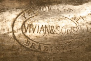 Brass sheet manufactured by Vivian and Sons, Swansea for the Indian market