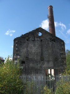 Vivian and Sons engine house and chimney, 1860, Hafod Copperworks, Swansea