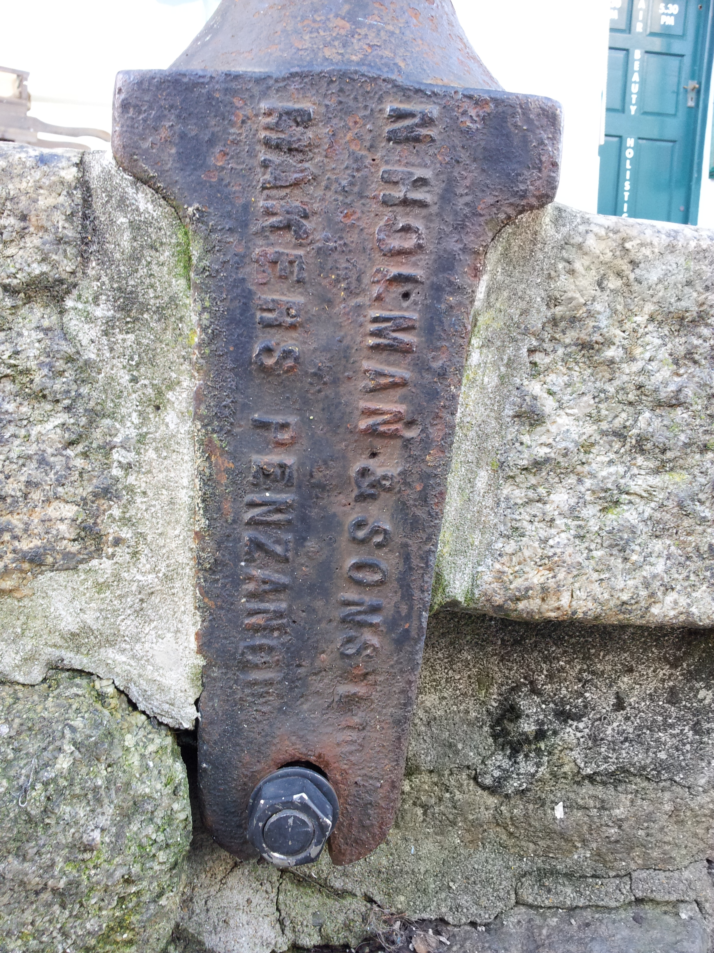 Lamp-post by N. Holman, Makers, Penzance (Market Jew Street, Penzance)