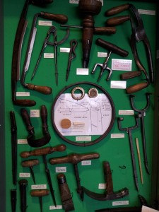 Display of cooper's tools (Tools and Trades History Society)