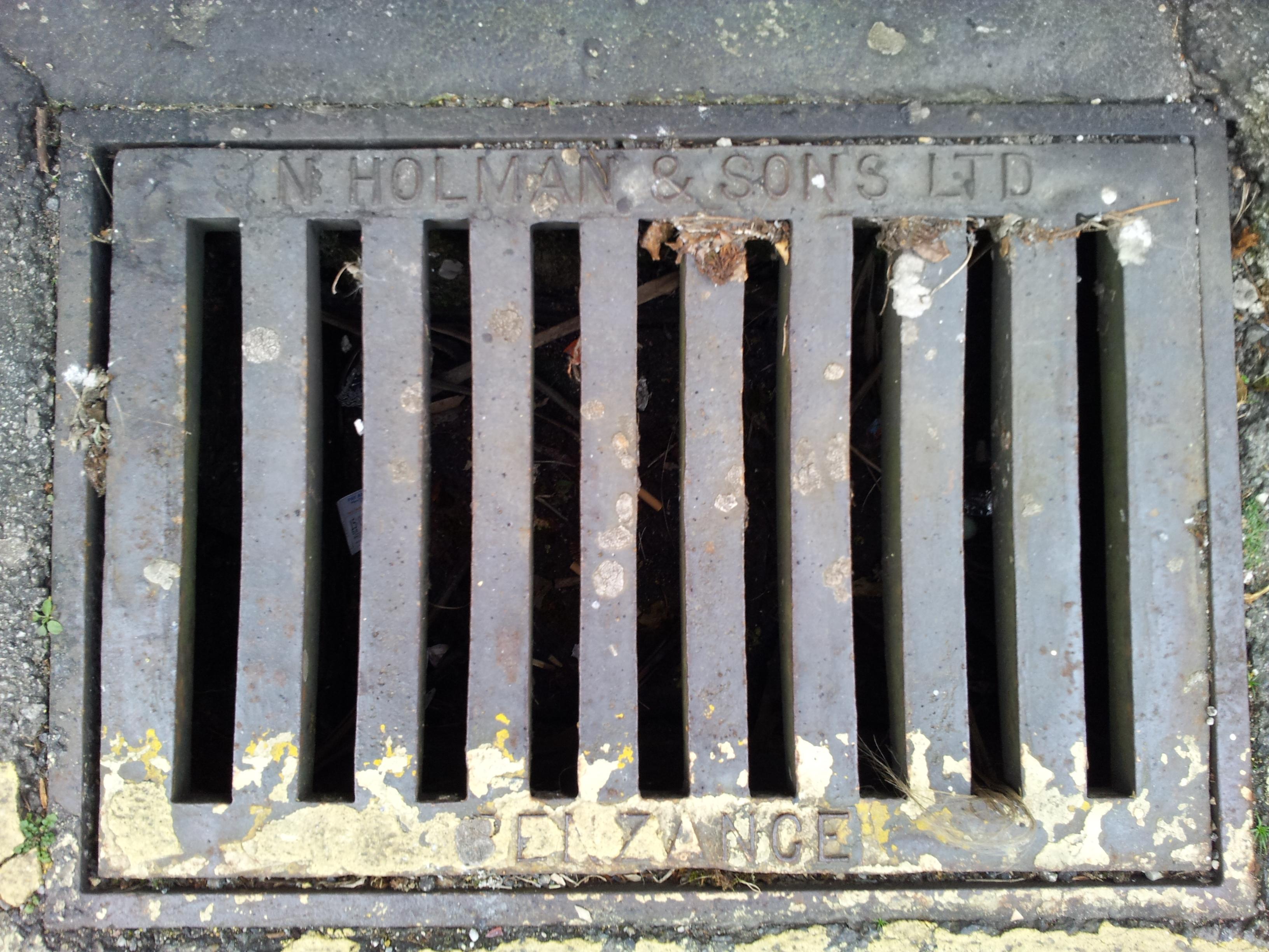 Gutter grill by N. Holman and Sons Ltd, Penzance (Belgravia Street, Penzance)
