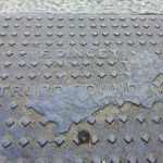The well-worn mark of local Truro foundry F. Dingey.