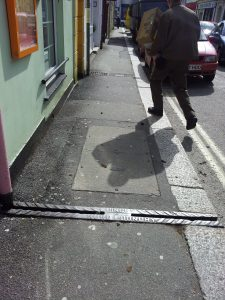 Pavement drain by F. Dingey Truro Foundry, Little Castle Street, Truro.