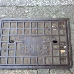 Meter cover, Truro Water Co. River Street, Truro (opposite Royal Cornwall Museum).