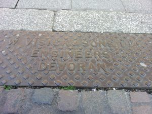 Culvert cover by W. Visick and Sons Ltd Engineers, Devoran, opposite Truro Cathedral at King Street.