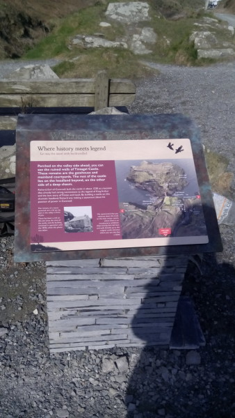 New interpretive slab at Tintagel (c) S. Greaney