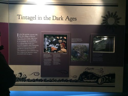 Display on Tintagel in the Cornish Dumnonian period (5th-7th centuries).