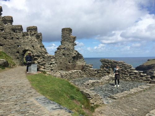 Part of curtain walls of Richard, Earl of Cornwall's castle at Tintagel.